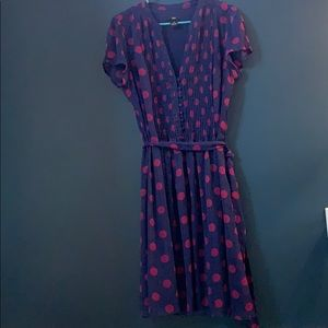 Size 14 navy and pink dress by JBS (ModCloth)